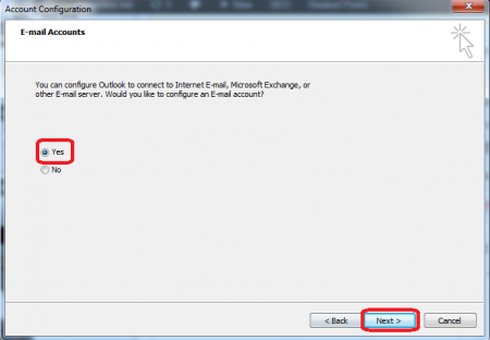 account setting outlook