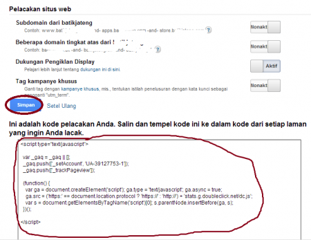 kode google analytics
