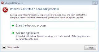 cara mengatasi windows detected a harddisk problem
