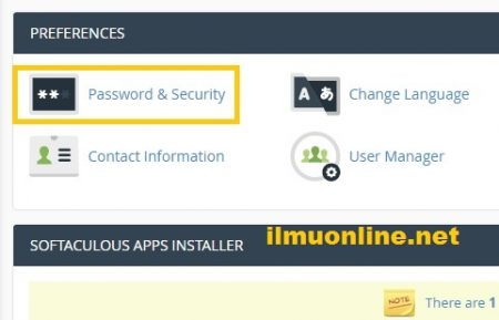 cara mengganti password cPanel di hosting