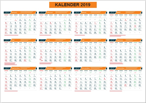 download kalender 2019 format corel draw cdr. Black Bedroom Furniture Sets. Home Design Ideas