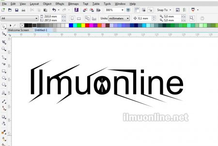 cara edit text dengan Shape Tool di Coreldraw